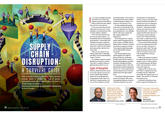 Spread of an article delivering cautionary tales of supply chain disruptions